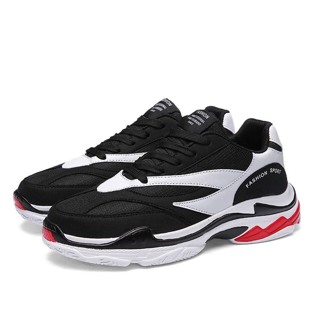 ❤ Zapatillas para Hombre,Casual Hombres con Cordones Planos Aumentar High Sports Color del Zapato mezclando Zapatillas Antideslizantes Botas Absolute: ...