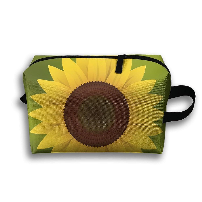 Sunflower Design Travel Bag Multifunction Portable Toiletry Bag Organizer Storage