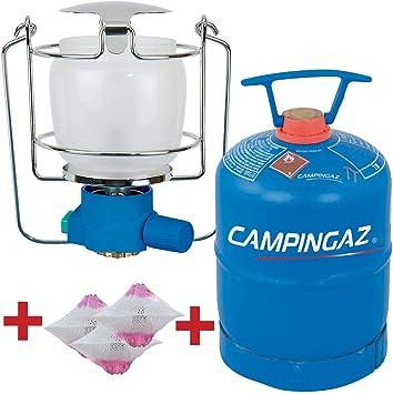 Campingaz-Kabra Juego de lámpara de Acampada Lumogaz R PZ Bricolemar con 3 Camisas S Campingaz y Botella de Gas: Amazon.es: Deportes y aire libre
