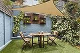 Love Story Triangle UV Block Sun Shade Sail Perfect for Outdoor Patio Garden