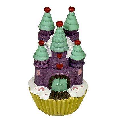 BLUE RIBBON Azul cinta mascota productos exóticos entornos Cupcake castillo Morado Acuario Adorno, grande