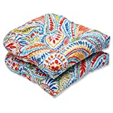 Pillow Perfect Outdoor Ummi Wicker Seat Cushion, Multicolored, Set of 2 Review