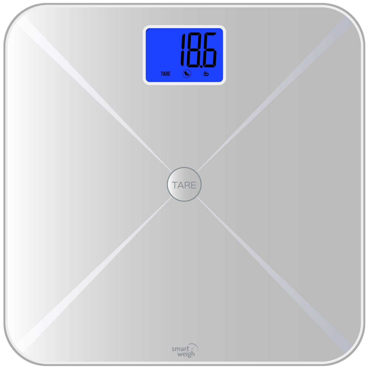Amazon scale bathroom - Amazon Com Smart Weigh Smart Tare Digital Body Weight Bathroom Scale With Baby Or Pet Tare Weighing Technology Large Lcd Display And Tempered Glass