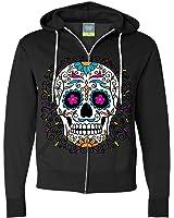 Dia De Los Muertos Pastel Sugar Skull Zip-Up Hoodie