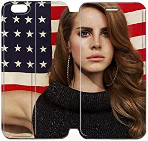 Flip Folio Leather Case for iPhone 6 plus 5.5 inch Cell Phone Case Lana Del Rey HPM4629117