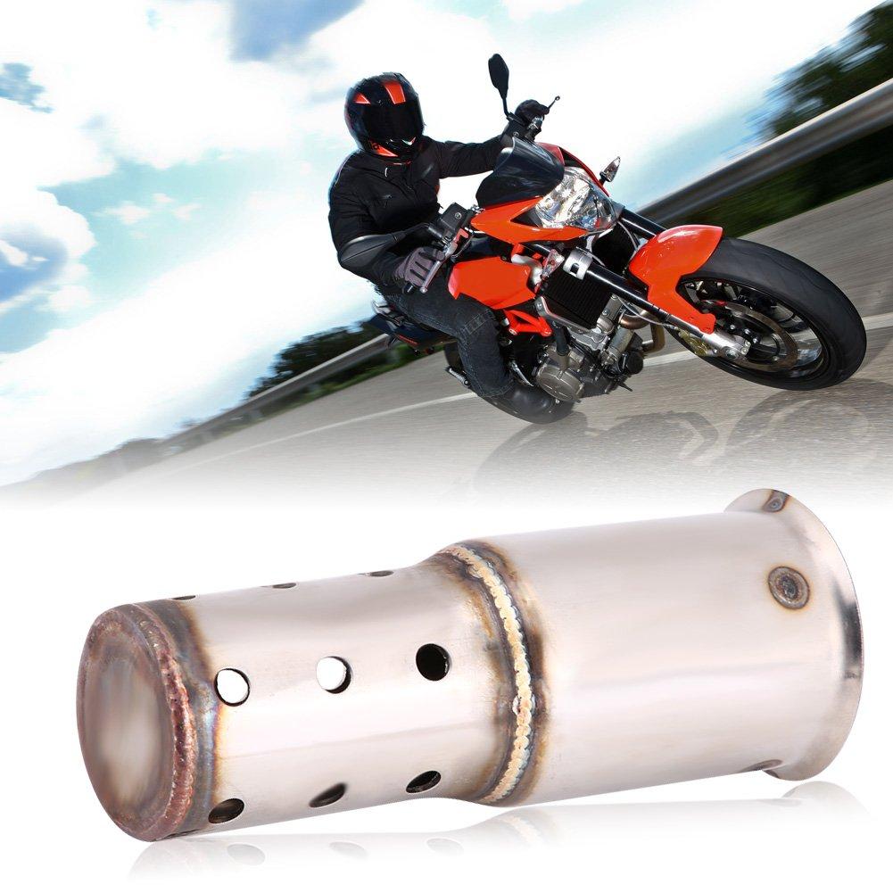1 Keenso Universal 51mm Motorrad Auspuff Schalld/ämpfer DB Killer L/ärm Eliminator Motorrad Auspuff Tipps Schalld/ämpfer