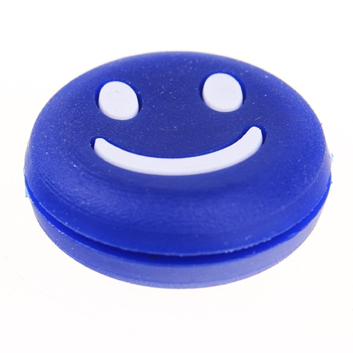 3pcs Silicone Smile Face Tennis Racquet Vibration Dampener Shock Absorber by GAOHOU