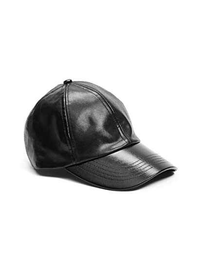 44698c72c26a9 GUESS Women's Faux-Leather Baseball Cap at Amazon Women's Clothing store: