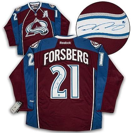 Peter Forsberg Signed Jersey - Reebok Premier - Autographed NHL ... a665234c141