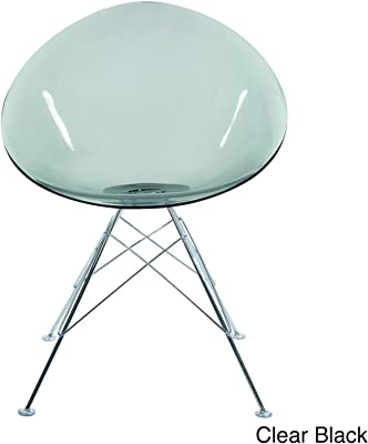 American Atelier Design Guild Metal Oval Chair Clear Black