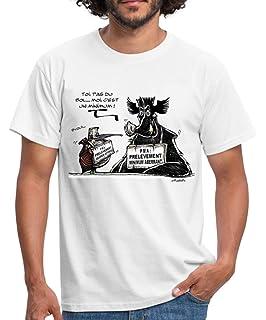 Marcassin Hunt-ER Chasseuse Cochon Tee-Shirt Homme-s et Femme-s Gris Noir Sanglier T-Shirt: Chasseur dadr/énaline Gibier Nature For/êt Chasse Cadeau pour Un Chasseur Porc
