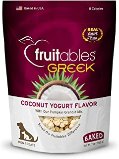 product image for Fruitables Greek Coconut Yogurt Crunchy Dog Treats (2553)