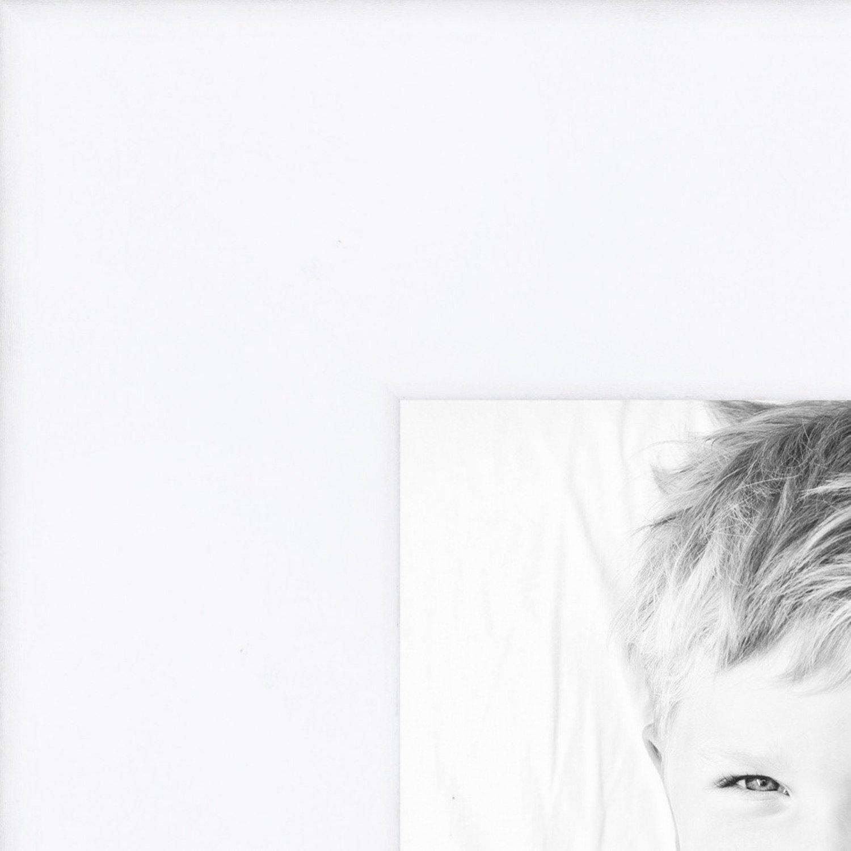 ArtToFrames 14x16 inch Satin White Wood Picture Frame, 2WOM0066-83412-YWTW-14x16