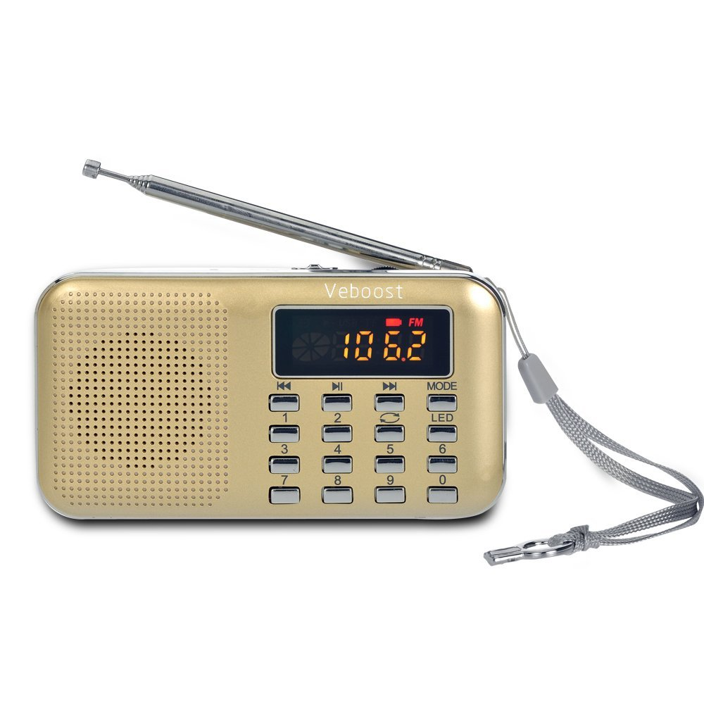 portable rechargeable digital radio speaker with usb port. Black Bedroom Furniture Sets. Home Design Ideas