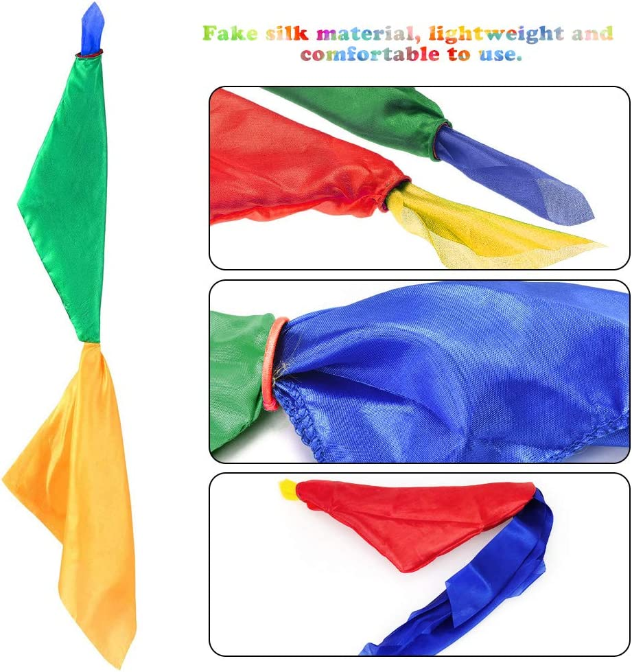 SNAGAROG 2 Pack Magie Schals Zauberrequisiten Taschentuch Farbwechsel Seiden Zaubertricks Zubeh/ör f/ür B/ühne Magic Show