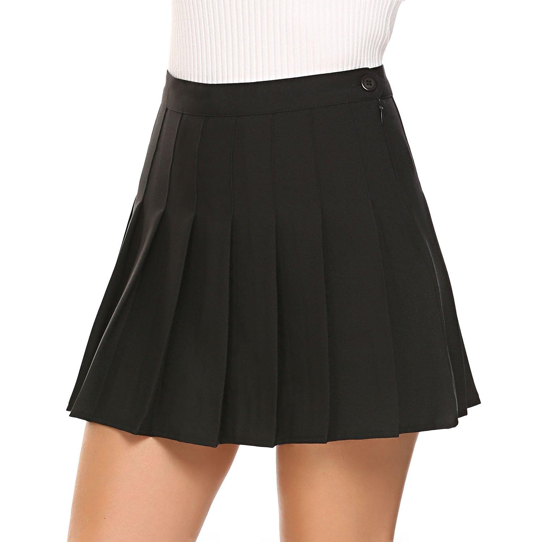 Shine Women's High Waist Pleated Mini Skirt Sport Skort SNH017057_B_L