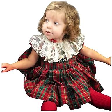 ZHMEI Tutu Bebe | Trajes de Vestir de Princesa a Cuadros con ...