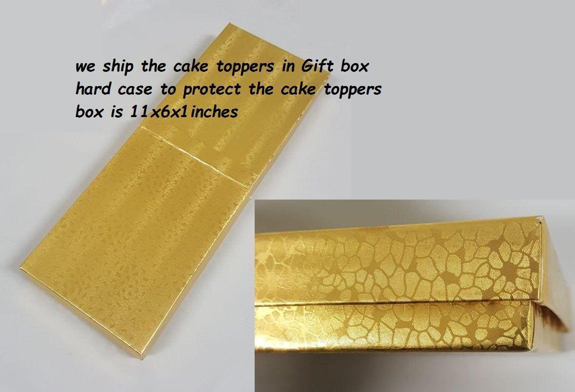 Amazon.com: Swarovski Crystal Monogram Wedding Cake Topper Letter C ...