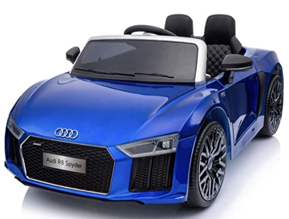 GetBest 12V Battery Operated Audi R8 Spyder Licensed Ride on Car for Kids with Remote, Blue, 2-Piece Electrical Vehicles at amazon