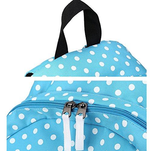 LADIES GIRLS Backpack Laptop Bag Polka Dot Lovely Large Capacity Lightweight High Quality Travel