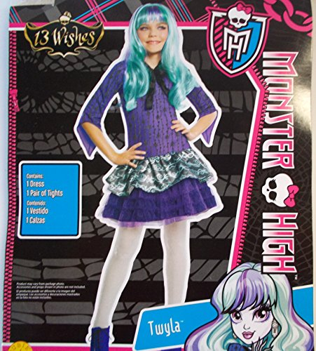 (Monster High Twyla 13 Wishes Child Costume Dress 10-12)