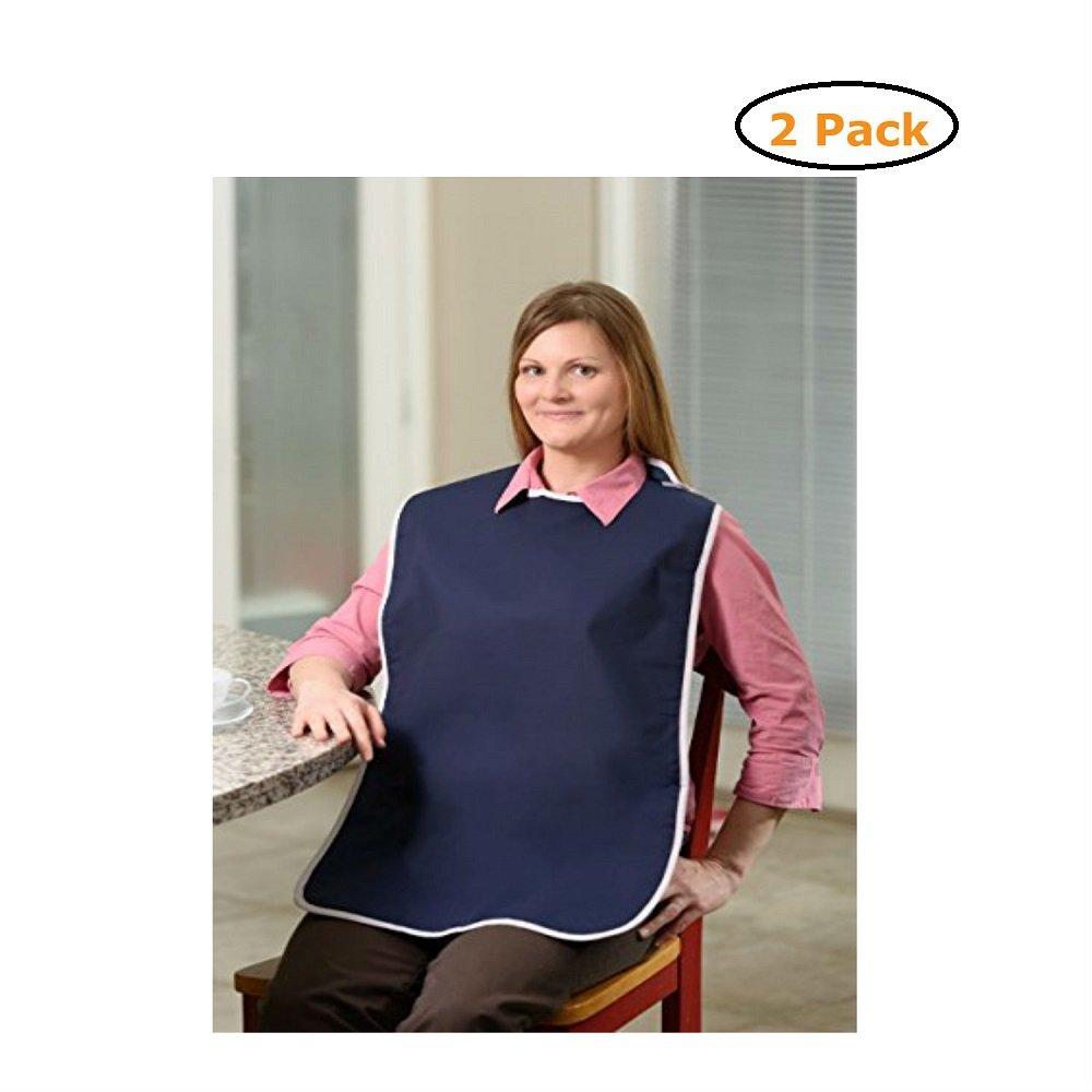 Waterproof Shirt Saver Bib - Size -Standard (27'' x 17'') - Navy Color - Pack of 2