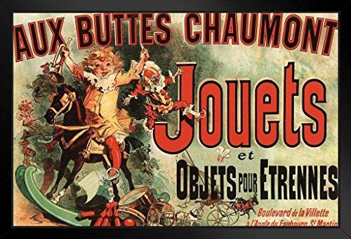 (Aux Buttes Chaumont Jouets Jules Cheret Art Print Framed Poster 14x20 inch)