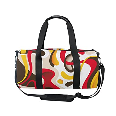 U LIFE Abstract Colorful Dynamic Texture Music Striped Sports Handy Duffel Bag