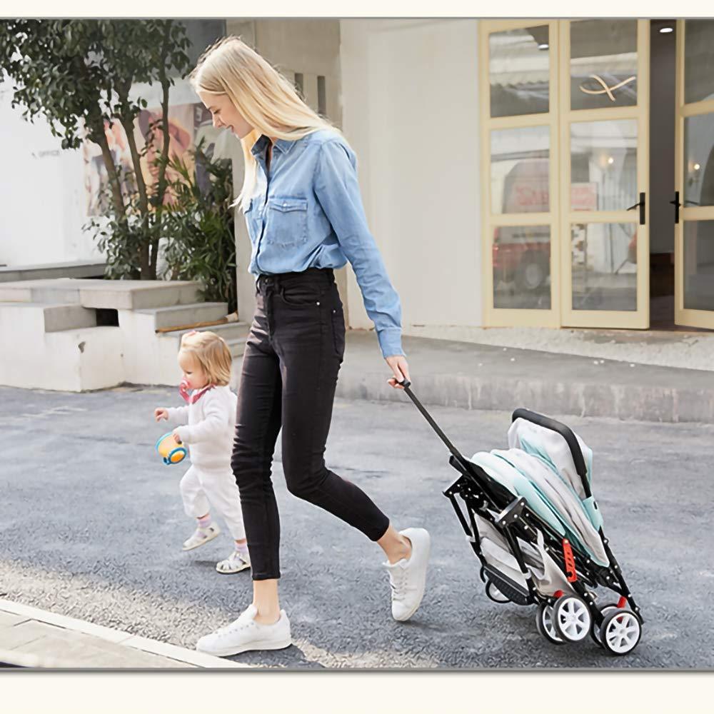 Amazon.com: HKJCC El Cochecito De Bebé Se Puede Sentar Y ...