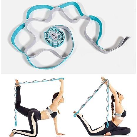 Amazon.com: FASHIONROAD Yoga Strap, Adjustable Yoga Stretch ...