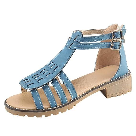 91eff7f3f7302 Women's Summer Sandals Fashion Bohemian High Heel Slippers Casual ...