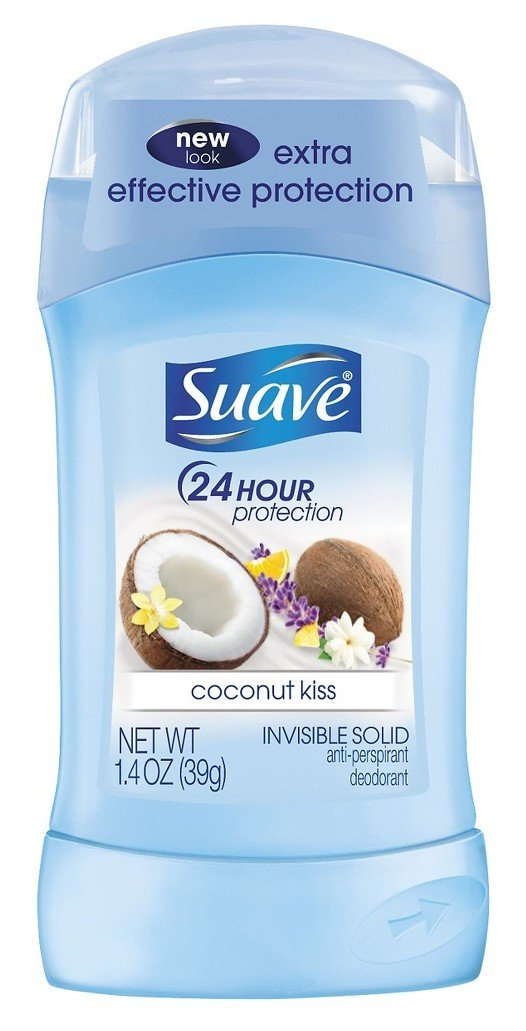 Suave Deodorant 1.4 Ounce 24Hr Coconut Kiss Invisible Solid (41ml)