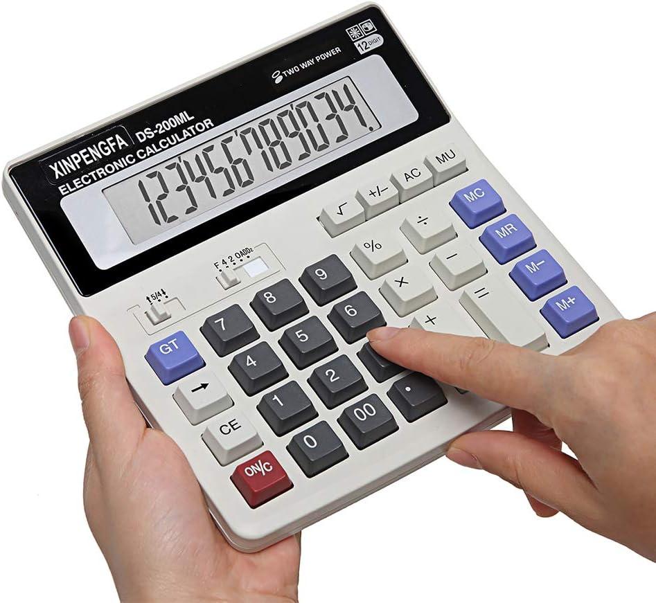 XINPENGFA Desktop Office Calculator 12 Digit Display and Big Button, Basic Business Calculator