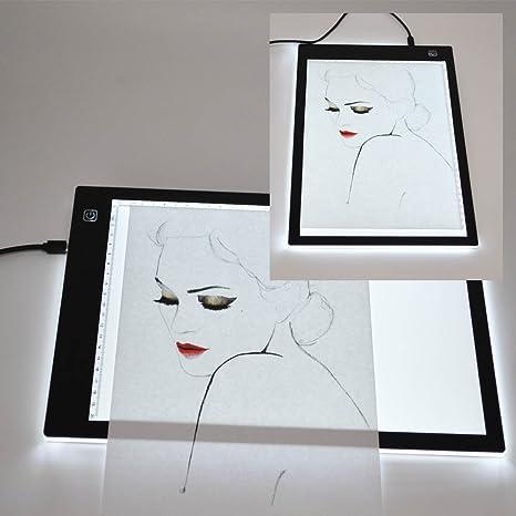 LED Copia Junta caja de luz Light Pad con A4 ultrafina arte Tracer ...