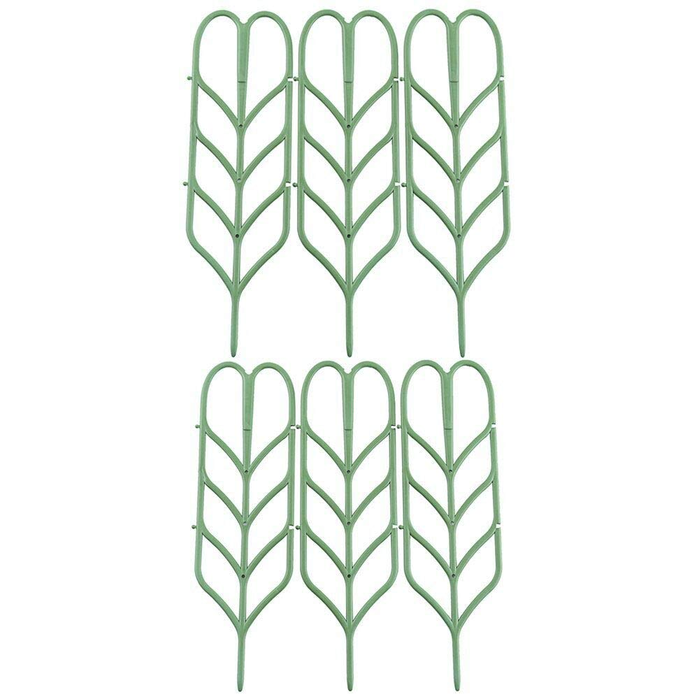 (Updated) DIY Garden Plant Climbing Trellis,Potted Plant Growing Support,Garden Trellis For Mini Climbing Plant Pot Support Leaf Trellis 6Pack