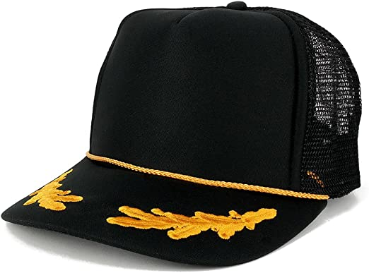 Oak Leaves High Crown Foam Mesh Baseball Cap