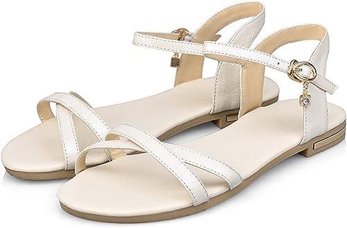 Sandales pour Femmes Chaussures d'été à Boucles Simples