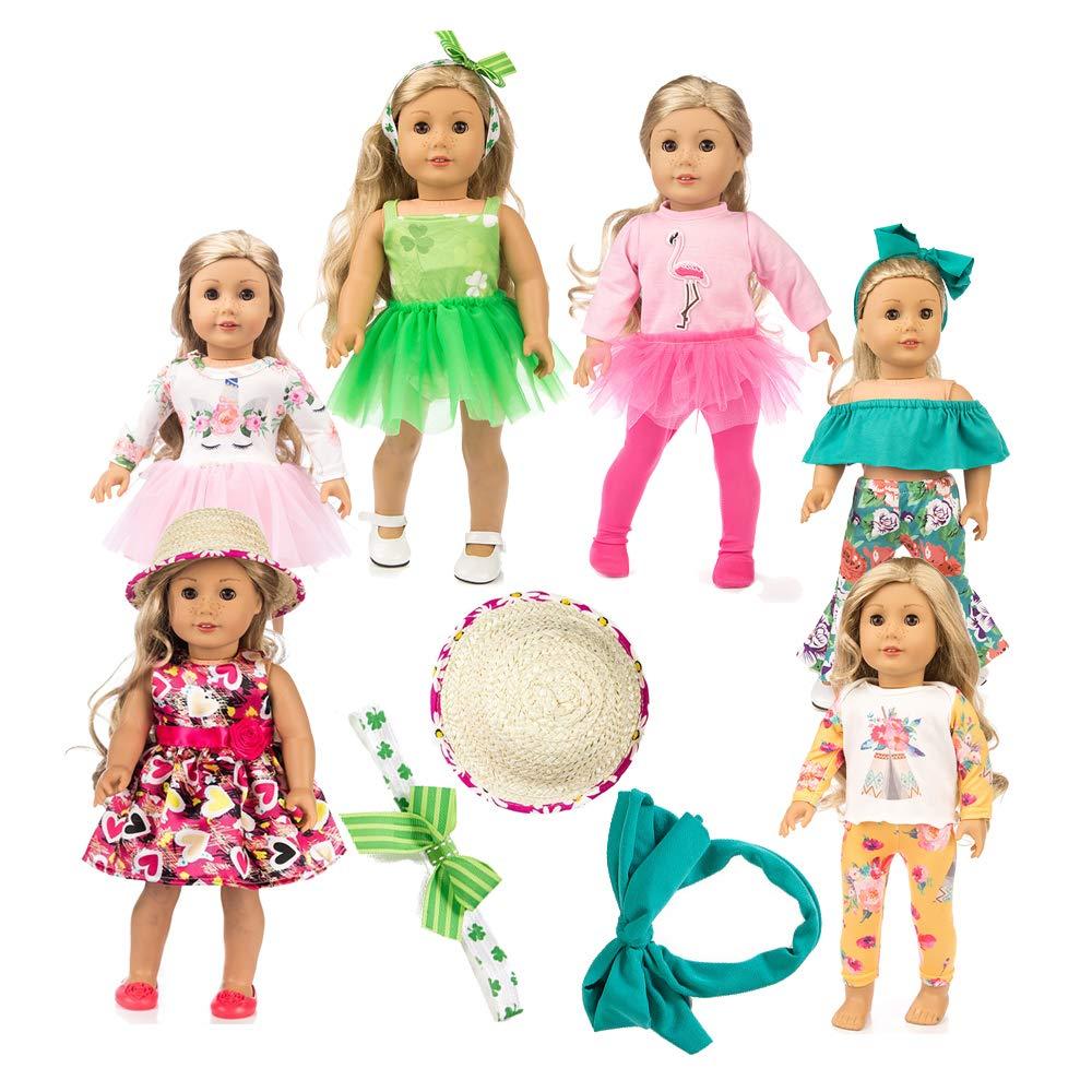6 Sets American girsl Unicorn Doll Clothes American Doll Unicorn 18 inch Doll Unicorn Outfit American Doll Clothes American Doll Accessories,Unicorn 18 inch Doll Clothes clotheaztt