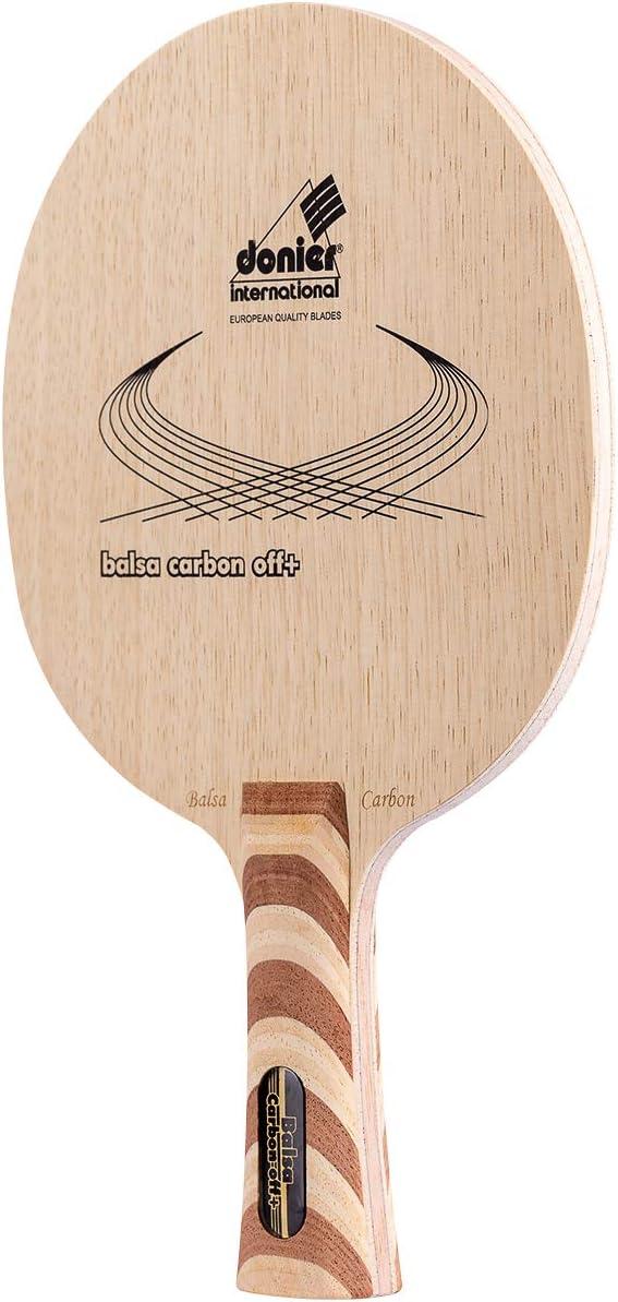 Donier Madera de Ping Pong | Balsa Carbon Offensive | Madera para Palas de Tenis de Mesa Fabricada en Europa | Base de 7 Capas para Velocidad Sin Igual y Ataques Agresivos | Interior y Exterior