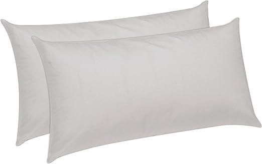 Pikolin Home - Pack de 2 almohadas de fibra, antiácaros, funda 100 ...