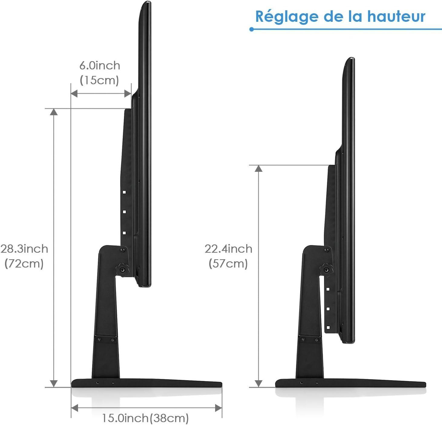 SIMBR Base para televisores (17-55 ,40 kg / 88 lbs): Amazon.es: Electrónica
