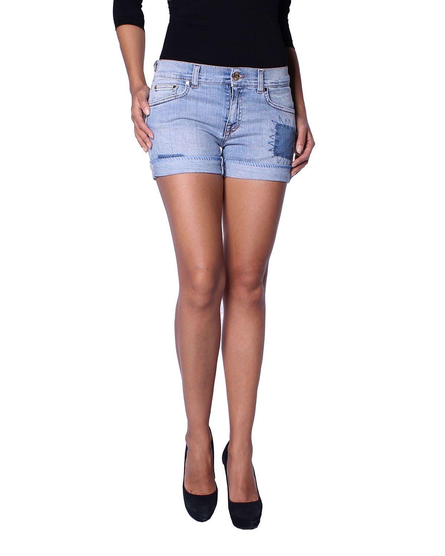 Pierre Balmain Women's Denim Shorts (6M7075/73561/700) - Blue, W29