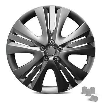 (22 Modelos a elegir) deportivo Auto Tapacubos Juego de 4 y Incluye 4 tapas de válvula para sus Tapacubos (universal).: Amazon.es: Coche y moto