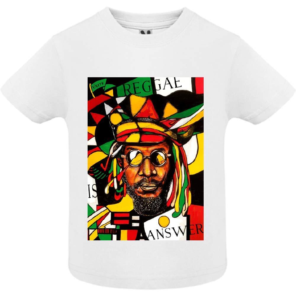 access-mobile-ile-de-re.fr T-Shirt - Manche Courte - Col Rond - Reggae 4 - Bébé Garçon - Blanc - 18mois