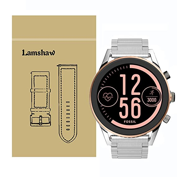 for Fossil Q Control Band, Lamshaw Stainless Steel Metal Quick Release Replacement Straps for Fossil Gen 3 Sport Smartwatch (Metal_Silver)