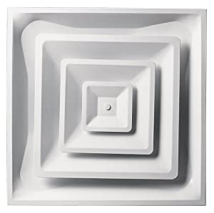"Accord Ventilation ABCD2X2 Ceiling Diffuser, 24"" x 24"", White"