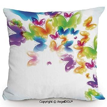 Amazon.com: AngelDOU - Cojín de lino y algodón para sofá ...