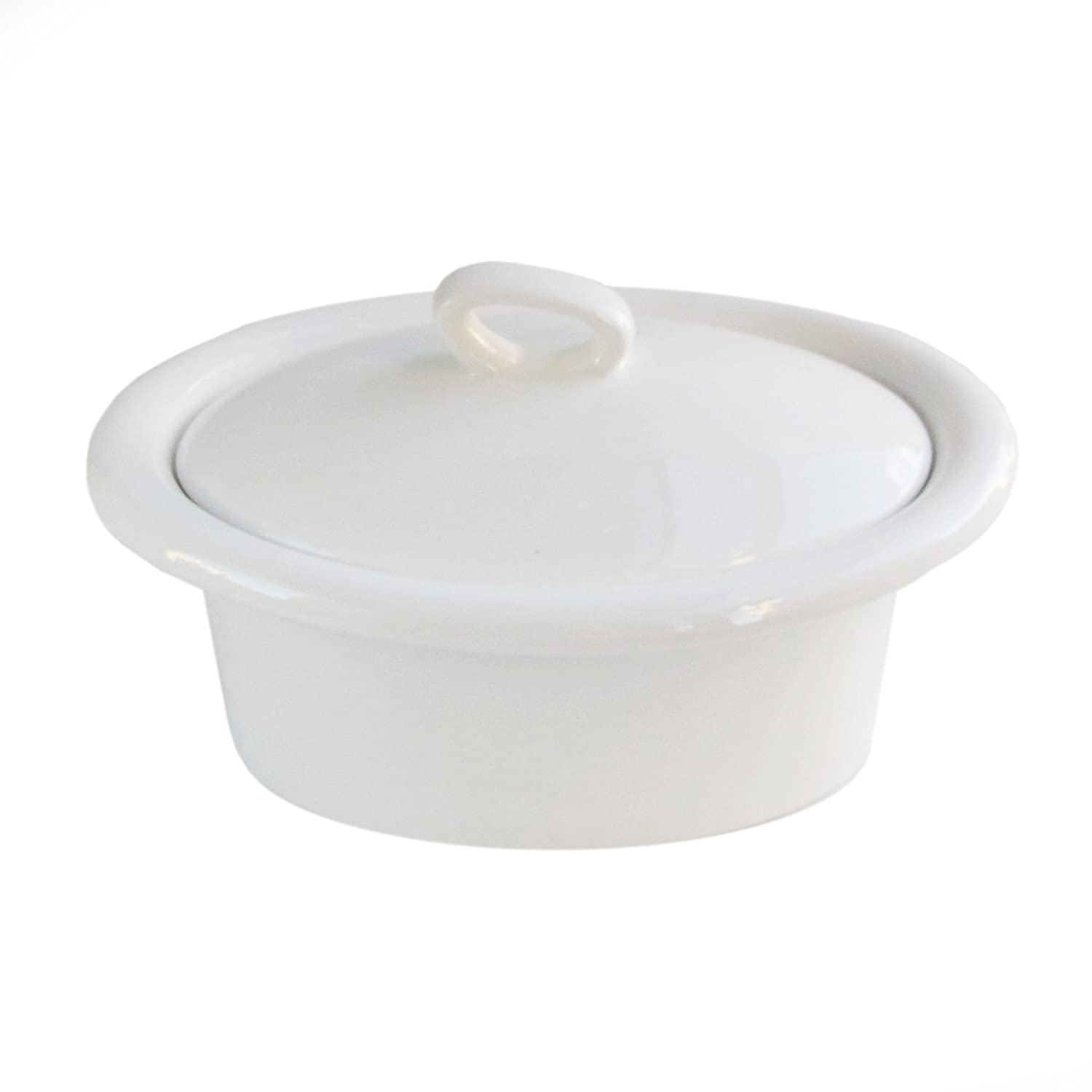 American Atelier 6216-CAS8 Essex Oval Casserole with Lid, White
