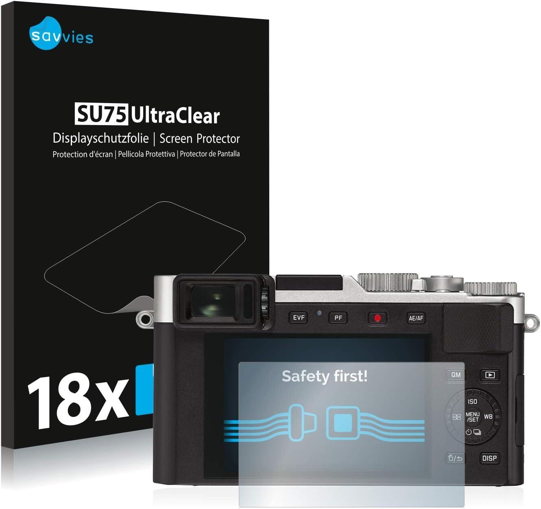 Pelicula Ultra Transparente savvies Protector Pantalla Compatible con Leica D-Lux 7 18 Unidades