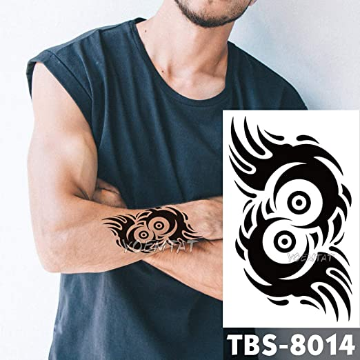 12x19cm Tatuajes temporales Impermeables Ronda vórtice Flash ...